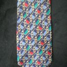 Christian Dior Men's Blue Print Silk Tie