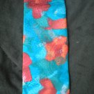 Pierre Cardin Men's Teal Blue & Burgundy Print Silk Tie