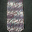 Bill Robinson Men's Silk Grey & Red Print Tie