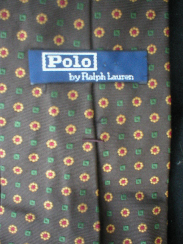 Ralph Lauren Polo Men's Brown Silk Tie
