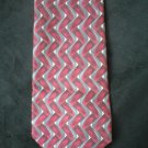 Arrow Men's Red, Gray & Cream Print Silk Tie