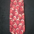 Bill Blass Men's Red & Cream Circle Print Silk Tie