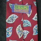 Ralph Lauren Chaps Men's Burgundy, Blue & Gray Silk Tie