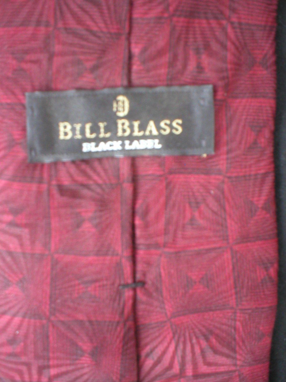 Bill Blass Men's Red & Black Print Silk Tie