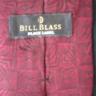 Bill Blass Men's Red & Black Print Silk Tie
