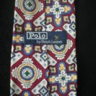 Ralph Lauren Polo Men's Red, White, Blue, Yellow Print Silk Tie