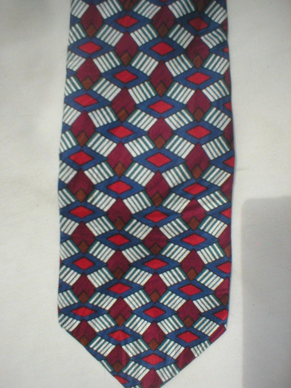Via Manzoni Blue, Red, Purple Silk Men's Business Tie