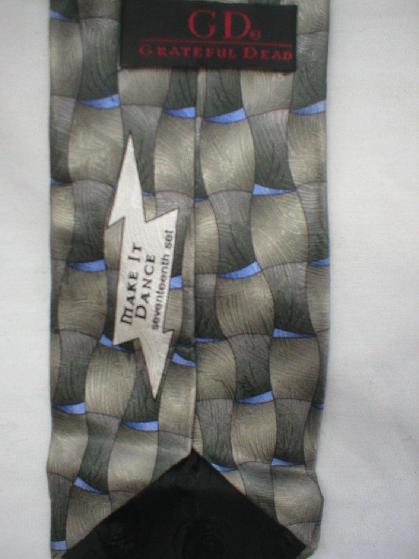 Grateful Dead J Garcia Make It Dance Seventeenth Set Print Silk Men's Business Tie