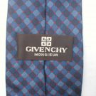 Givenchy Blue & Red Print Silk Men's Business Tie