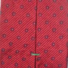 Tommy Hilfiger Red  Print Silk Men's Business Tie