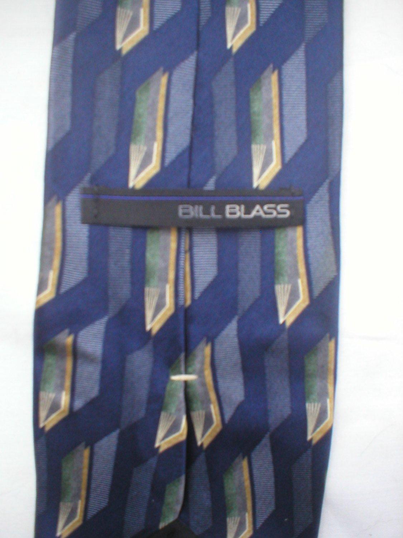Bill Blass Blue Print Silk Men's Business Tie