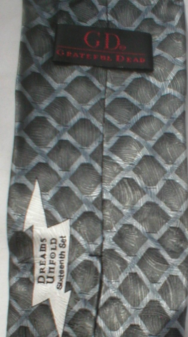 J. Garcia Grateful Dead Dreams Unfold Blue & Gray Print Silk Men's Business Tie