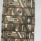 Gianfranco Ruffini Taupe, Black, Green Print Silk Men's Business Tie
