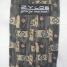 Zylos Gray, Blue, Tan Print Silk Men's Business Tie