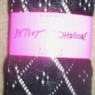 Betsey Johnson Black Knit Print Low Rise Tights M/L  NWT