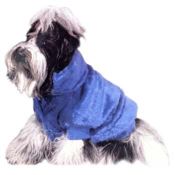 Doggiduds Blue Faux Fur Jacket S Small NWT