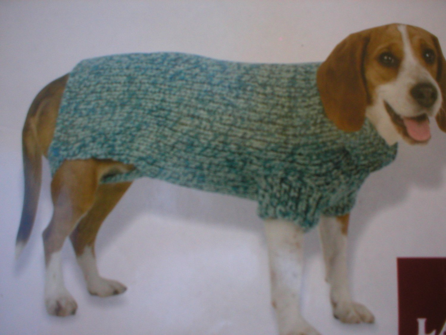 Vo Visionz Two Tone Blue Chenille Knit Dog Sweater L NWT
