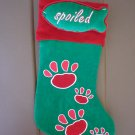 Red & Green Christmas Dog Paw Stocking with Toy New