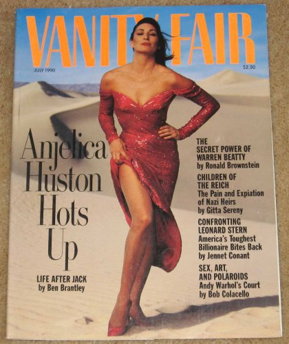 Vanity Fair Magazine July 1990 Angelica Huston