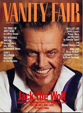 Vanity Fair Magazine April 1994 Jack Nicholson