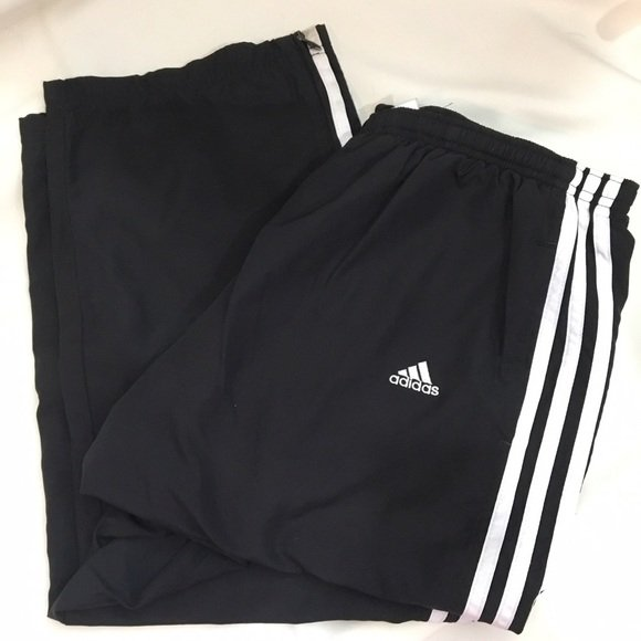 Adidas Black & White Cropped Athletic Sport Pants S