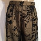 Rickie Freeman for Teri Jon Tan & Black Mesh Lace Occasion Pants 4