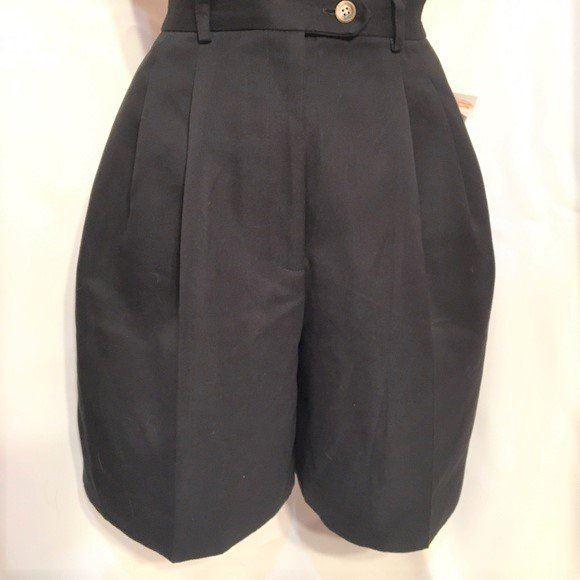 Talbots Black Bermuda Walking Shorts 6P NWT