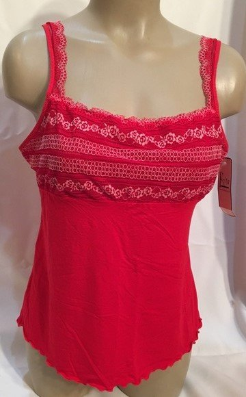 Felina Red Panache Modal Camisole Top 83828 XL NWT