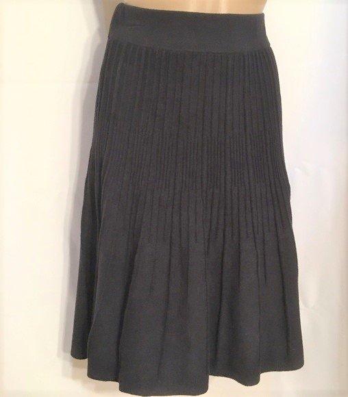 CAbi Black Knit Skirt S