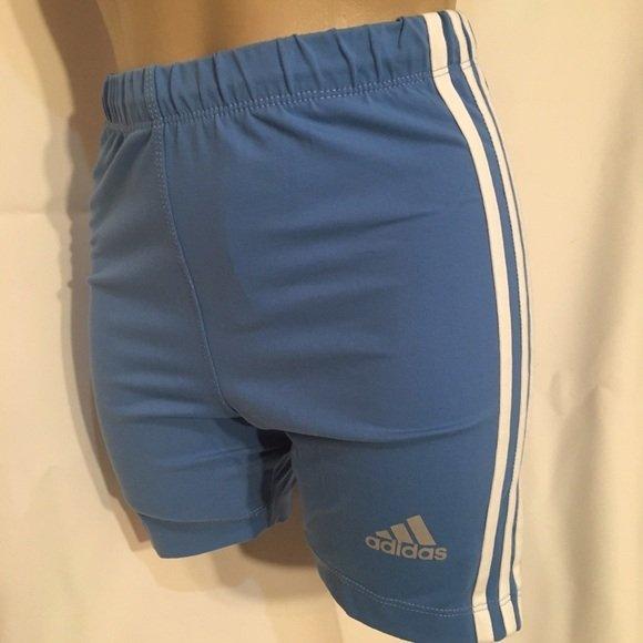Adidas Blue & White Athletic Shorts M