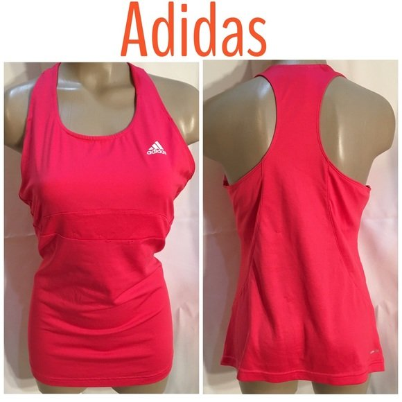 Adidas Pink Athletic Tank Top L