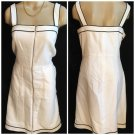 Ann Taylor White & Black Dress 10