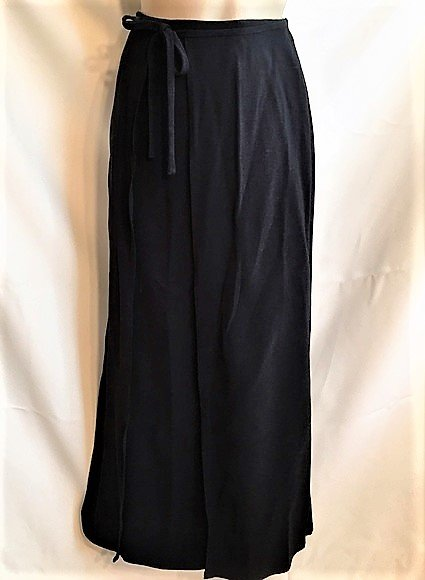 Ann Taylor Black Long Front Wrap Skirt 4