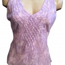 Ann Taylor Lavender & Gray Silk Sleeveless Top S