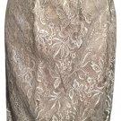 Ann Taylor Loft Gray Metallic Lace Bubble Mini Skirt 4