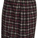 Ann Taylor Loft Black White Pink Plaid Skirt 6 NWT
