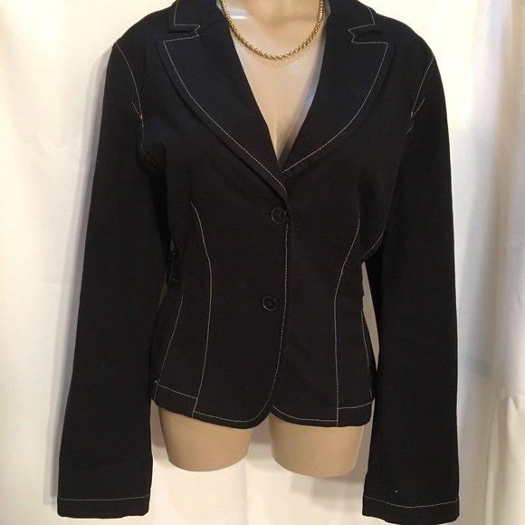 Ann Taylor Black Cotton Jacket 16