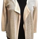 Ann Taylor Tan Drape Cardigan Sweater XS
