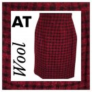 Ann Taylor Petites Red & Black Plaid Wool Mini Skirt 10 NWOT