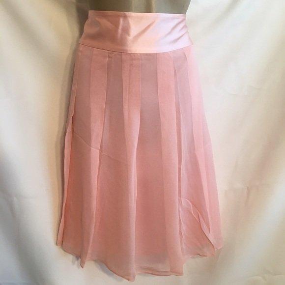 Banana Republic Pink Silk Knee Length Skirt 10 NWOT