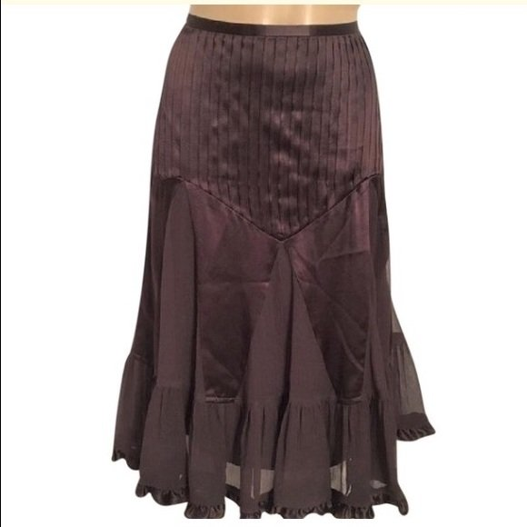 Banana Republic Brown Silk Skirt 2