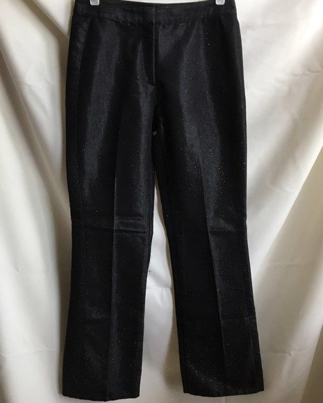 Bebe Black Gold Glitter Jeans  6  NWOT