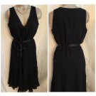 Calvin Klein Black Silk Dress 8