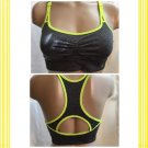 Danskin Yellow & Gray Sport Athletic Bra XL NEW