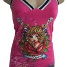 Ed Hardy Hot Pink Hollywood Tank Top XS
