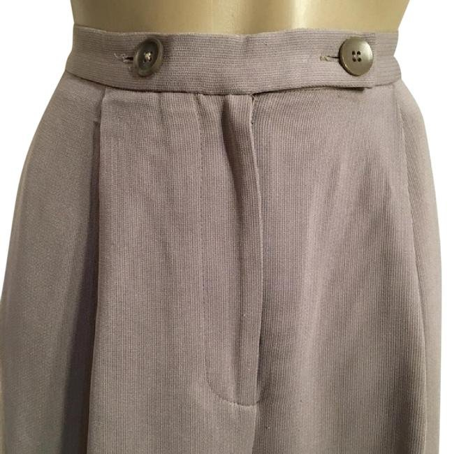 Emanuel Ungaro Petites Gray Career Thin Stripe Pants 6