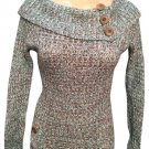 Glimmer Blue & Brown Sweater M