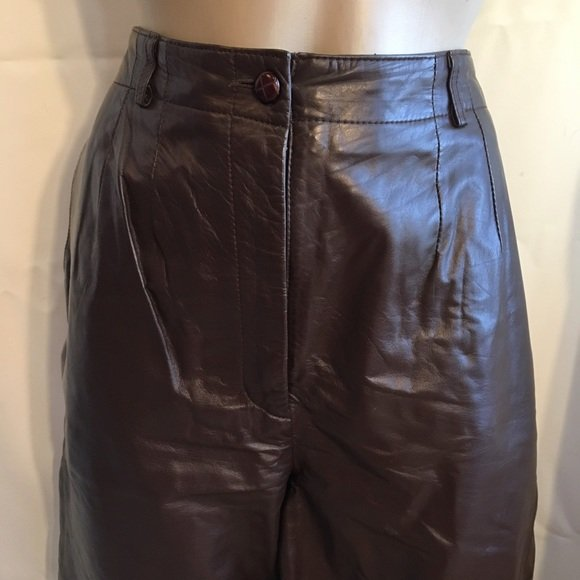 JH Collectibles Dark Brown Leather Pants 10