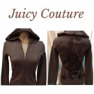 Juicy Couture Brown Hoodie Jacket  Petite Small S NWT
