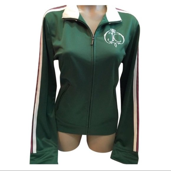 Juicy Couture Green Athletic Sport Jacket L NWT
